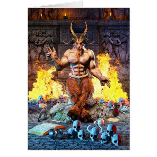 Cartes Chèvre sabbatique Baphomet satanique