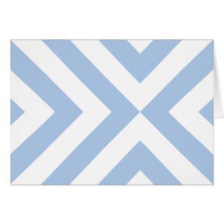 Cartes Chevrons bleu-clair et blancs