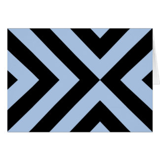 Cartes Chevrons bleu-clair et noirs