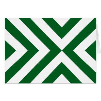 Cartes Chevrons verts et blancs