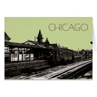 Cartes Chicago L souterrain 1950 de photographie de sépia