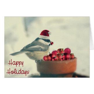 Cartes Chickadee adorable de vacances