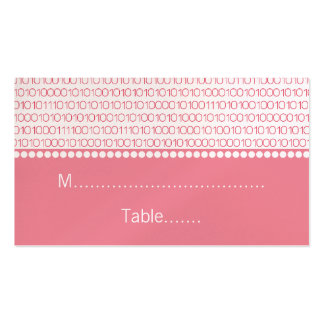 Cartes chics d'endroit de mariage de geek, roses carte de visite standard