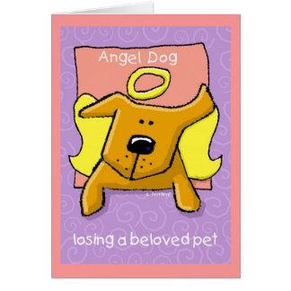 Cartes Chien d'ange, perdant un animal familier aimé