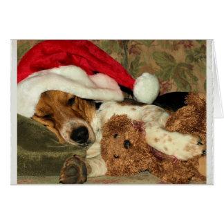 Cartes Chien de beagle de sommeil Père Noël Snoopy -
