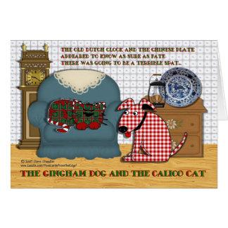 Cartes Chien de guingan et chat de calicot