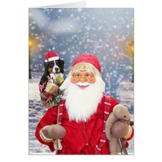Cartes Chien de montagne de Bernese de cadeaux de Noël du