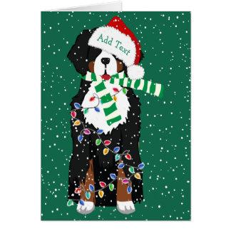Cartes Chien fait sur commande de Noël de montagne de