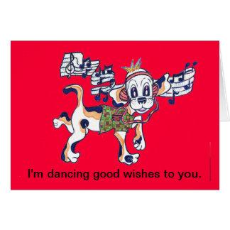 Cartes Chien frais le beagle de danse