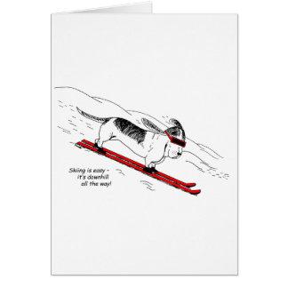 Cartes Chien humoristique de ski