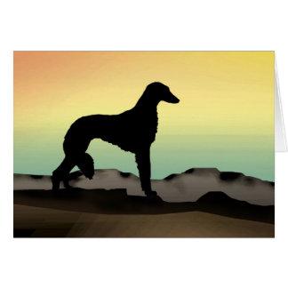 Cartes Chien Saluki de désert