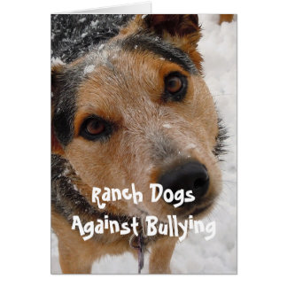 Cartes Chiens de ranch contre l'intimidation - Parenting