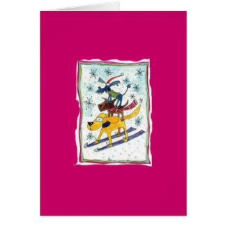 Cartes Chiens de ski