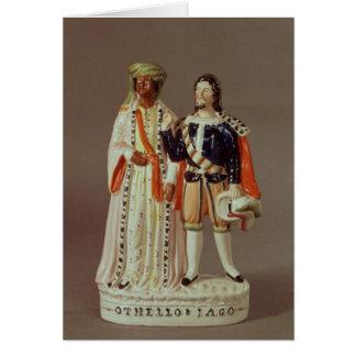 Cartes Chiffre du Staffordshire d'Othello et d'Iago,