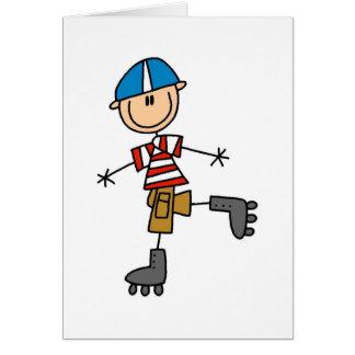 Cartes Chiffre patinage de bâton de rouleau