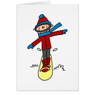 Cartes Chiffre snowboarding de bâton