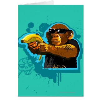 Cartes Chimpanzé tenant une banane