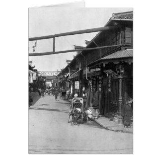 Cartes Chinatown à Changhaï, fin du 19ème siècle