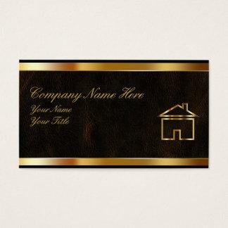 Cartes chiques d'entreprise immobilière
