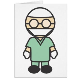 Cartes Chirurgien médical masculin