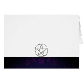 Cartes Choisissez votre blanc de tissu de pourpre et de