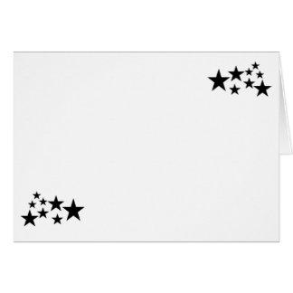 Cartes Choisissez votre blanc d'étoiles de noir de
