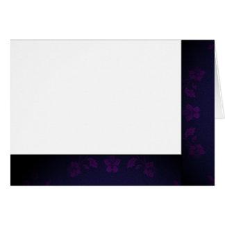 Cartes Choisissez votre blanc noir et pourpre de couleur