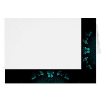 Cartes Choisissez votre noir et Turquo de couleur. Blanc