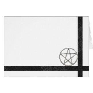 Cartes Choisissez votre pentagramme de couleur et blanc