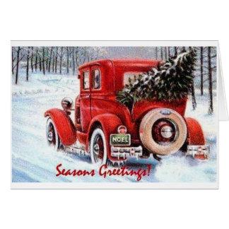 Cartes Choix de votre propre arbre de Noël vintage