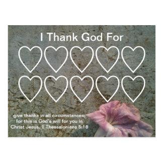 Cartes chrétiennes reconnaissantes