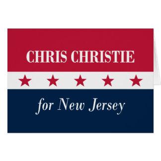 Cartes Chris Christie pour le New Jersey