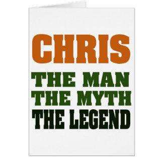 Cartes Chris - l'homme, le mythe, la légende