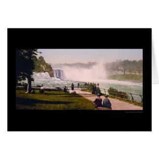 Cartes Chutes du Niagara 1901 de point de perspective