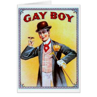 Cartes Cigares gais de garçon