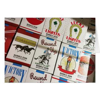 Cartes cigarettes de sucrerie