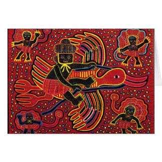 Cartes Cigogne indienne de Kuna apportant la conception