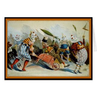Cartes Cinq clowns