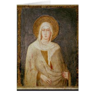 Cartes Cinq saints, détail de St Clare