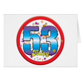 Cartes cinquante-troisième Anniversaire aujourd'hui v2