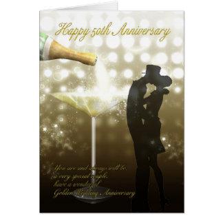 Cartes cinquantième anniversaire - Champagne