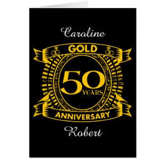 Cartes cinquantième Anniversaire de mariage d'or