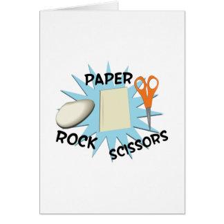 Cartes Ciseaux de papier de roche