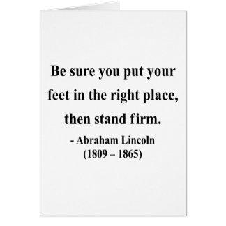 Cartes Citation 16a d'Abraham Lincoln