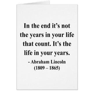 Cartes Citation 2a d'Abraham Lincoln