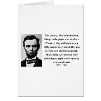Cartes Citation 9b d'Abraham Lincoln