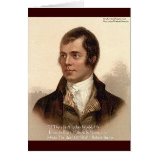 Cartes Citation célèbre de Robert Burns