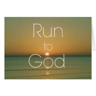 Cartes Citation chrétienne inspirée courue à Dieu