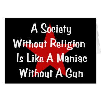 Cartes Citation d'Anti-Religion