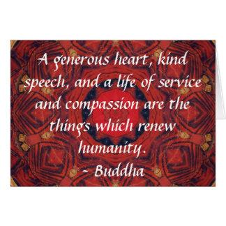 Cartes CITATION de CITATION de compassion de Bouddha